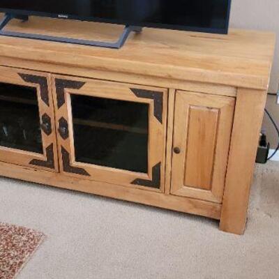 Wood TV display