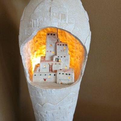Stone city lamp