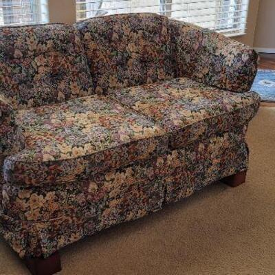 Vintage floral print sofa