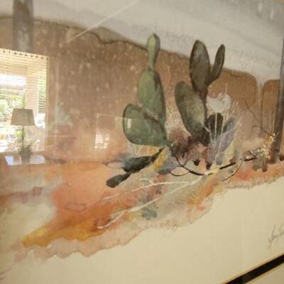 Desert painting detail