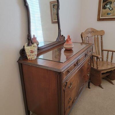 Wood vanity dresser