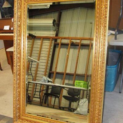 Exquisite gold framed beveled mirror - 4 ft x 3ft+/-