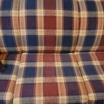 Large plaid pull-out couch