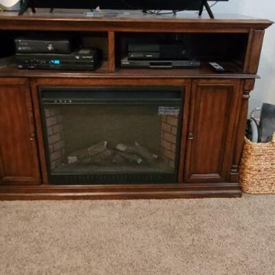Artificial fireplace console