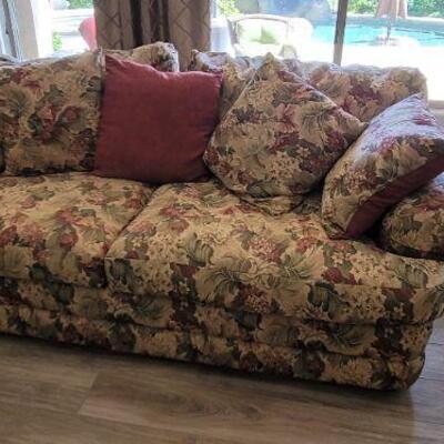flower print sofa