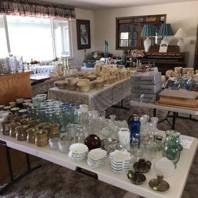 Vintage Glassware & Home Goods
