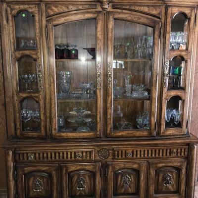 Vintage Cabinet with Glassware