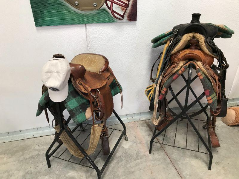 (3) saddles. The black saddle is from 1920's