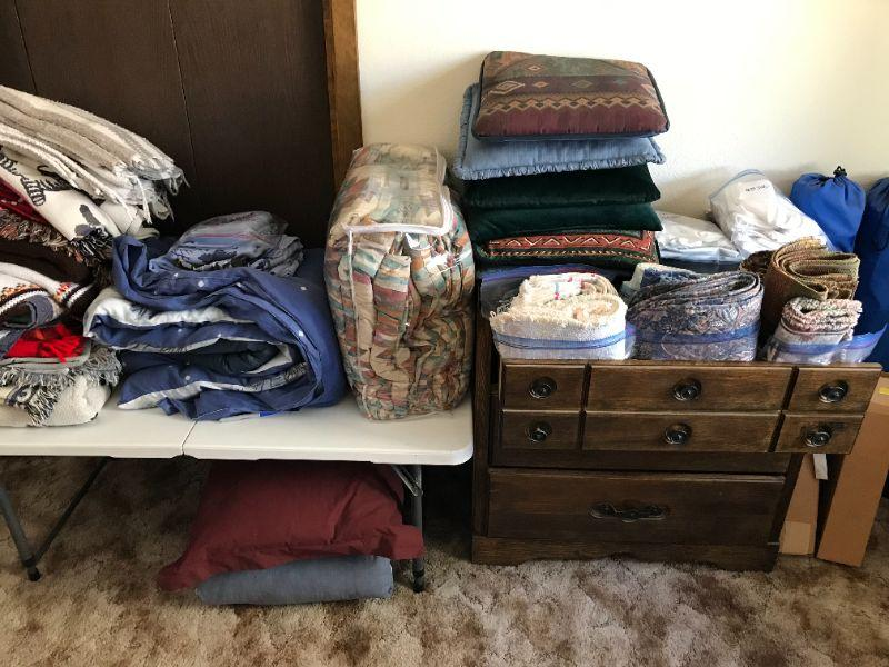 Comforter sets, dining, lace, pillows and blankets