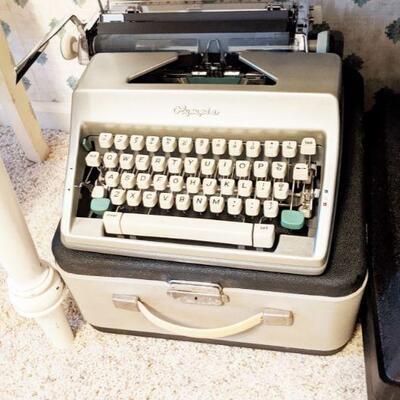Vintage Olympia portable typewriter.