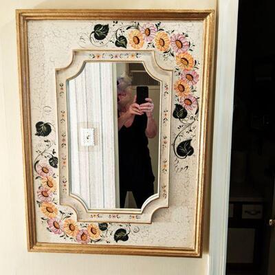Nice hand painted mirror