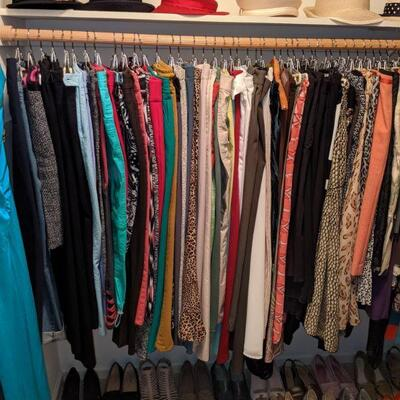 Name brand ladies clothing, shoes purses and hats to include talbots, chico's, Stein mart, Michael kors, coach, and more