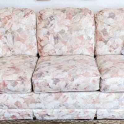 Upholstered three seat lazy boy sofa