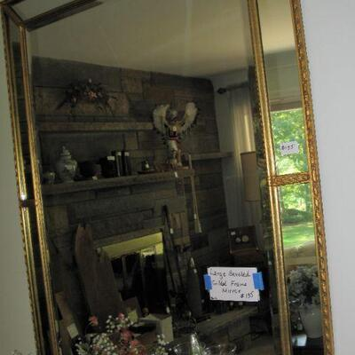 LARGE GOLD TRIM WLL MIRROR                                                                      BUY IT NOW $ 85.00