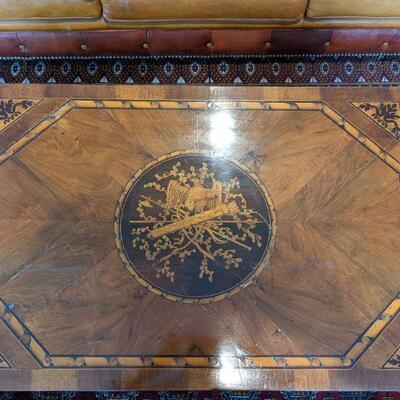 18th Century Northern Italian Wooden Inlay table - Kellogg Estate 21 tall x 22 deep x 33 wide