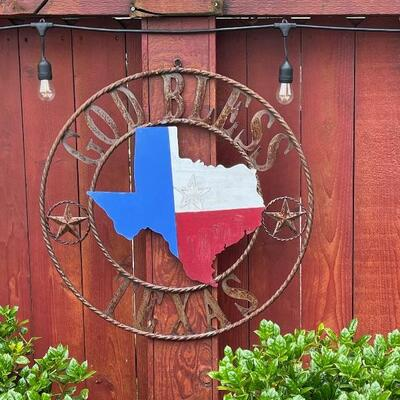 metal texas sign