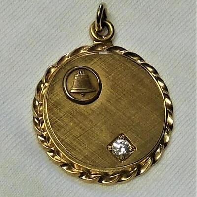 10k Bell System Pendant or Charm