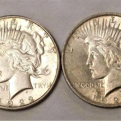 1922s & 1923 Peace Dollars