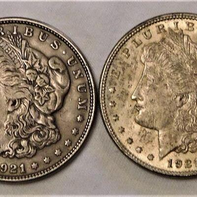 1921 & 1921s Morgan Silver Dollars