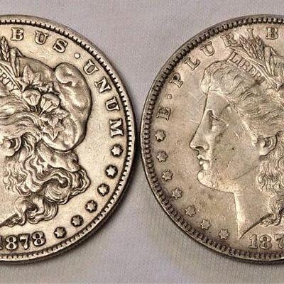 1878 and 1879 Morgan Silver Dollars