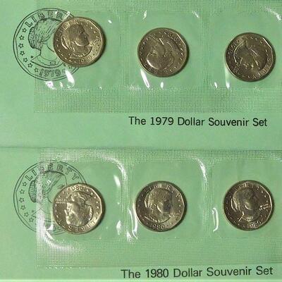 1979 & 1980 Dollar Souvenir Sets