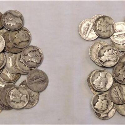 100 Mercury Dimes