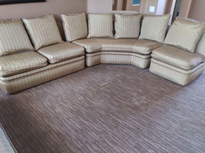Beautiful silk sectional sofa