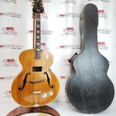 2016  Rare 1944 Epiphone Prototype Electric Guitar With Hard Case Stamped 2565. Stand Not Included