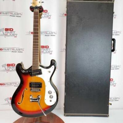 2018  Mosrite Ventures Sunburst Electric Guitar With Hard Case Stand not included