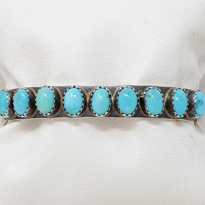 #928 • Native American SC Turquoise Cuff Bracelet