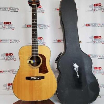 2028  S.L. Mossman Winter Wheat Acoustic Guitar With Hard Case Stand Not Included. No. 76-3700