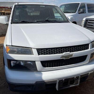 345  2011 Chevy Colorado Year: 2011 Make: Chevrolet Model: Colorado Vehicle Type: Pickup Truck Mileage: Plate:  none Body Type: 4 Door...