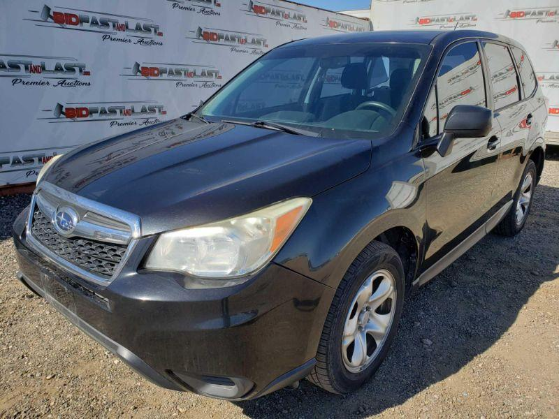 2014 Subaru Forester. CURRENT SMOG  Year: 2014 Make: Subaru Model: Forester Vehicle Type: Multipurpose Vehicle (MPV) Mileage: 122,098 Plate:  none Body Type: 4 Door Wagon Trim Level: 2.5i Drive Line: AWD Engine Type: B4, 2.5L; DOHC Fuel Type: Gasoline Horsepower: Transmission: VIN #: JF2SJAAC8EH556054 Doc Fee:  $70 Smog:  $60 DMV Registration Fee:  6% of sale price