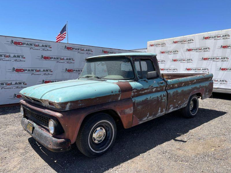 100  1963 Chevrolet C10 with Buick Engine, SEE VIDEO... VIN: 3C1540151806 Mileage 82,720  Transmission just rebuilt, over $2,000!!