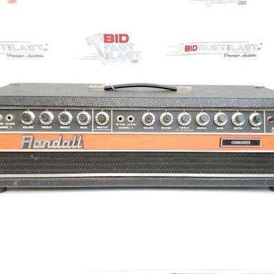 2064  Randall Commander 200 Watt Guitar Amplifier Head Randall Commander 200 Watt Guitar Amplifier Head
