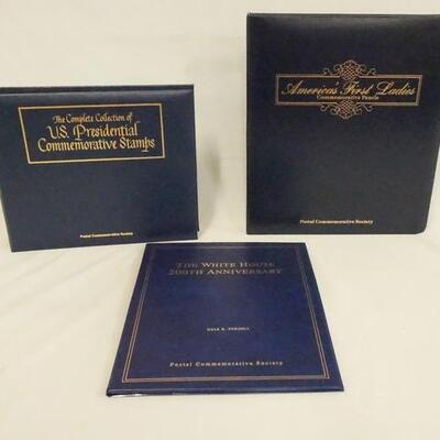 1035COMMEMORATIVE STAMP LOT. LOT INCLUDES THE COMPLETE COLLECTION OF U.S. PRESIDENTAL COMMEMORATIVE STAMPS, AMERICAS FIRST LADIES...