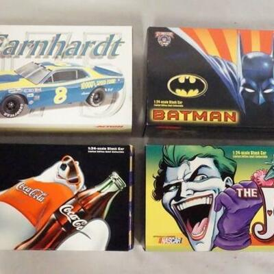 1009LOT OF FOUR LIMITED EDITION ACTION RACING COLLECTABLES PLATINUM SERIES NASCAR 1:24 SCALE MODEL CARS IN ORIGINAL BOXES.