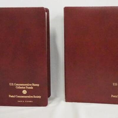 1059LOT OF TWO COMMEMORATIVE STAMP ALBUMS; COLLECTOR PANELS. ALL STAMPS ARE MINT. OVER $100 FACE VALUE.