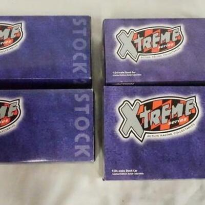 1011LOT OF FOUR LIMITED EDITION ACTION RACING COLLECTABLES XTREME SERIES NASCAR 1:24 SCALE MODEL CARS IN ORIGINAL BOXES.
