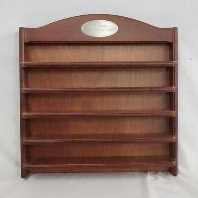 1095THE GREATEST AUTOMOBILES OF THE WORLD DISPLAY SHELF FOR MODEL CARS. 15 1/2 IN X 16 IN, 3 1/2 IN DEEP.