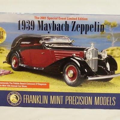 10161939 MAYBACH ZEPPLIN 1:24 SCALE FRANKLIN MINT LIMITED EDITION MODEL IN ORIGINAL BOX.