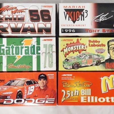 1006LOT OF SIX LIMITED EDITION ACTION RACING COLLECTABLES NASCAR 1:24 SCALE MODEL CARS IN ORIGINAL BOXES.