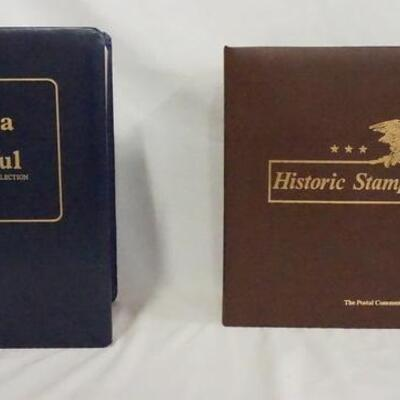 1061LOT OF TWO COMMEMORATIVE STAMP ALBUMS; AMERICA THE BEAUTIFUL & HISTORIC STAMPS OF AMERICA (INCLUDES MINT STAMPS & COVERS)