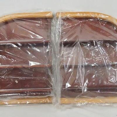 1100LOT OF TWO DISPLAY SELVES FOR MODEL CARS SEALED IN PLASTIC BAGS. THEY ARE BOTH APP. 17 IN X 13 IN, 4 1/2 IN DEEP