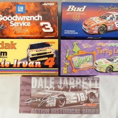 1007LOT OF FIVE LIMITED EDITION ACTION RACING COLLECTABLES NASCAR 1:24 SCALE MODEL CARS IN ORIGINAL BOXES.