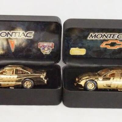 1074LOT OF TWO RACING CHAMPIONS 1998 50TH ANNIVERSARY NASCAR MODEL CARS IN CASES.