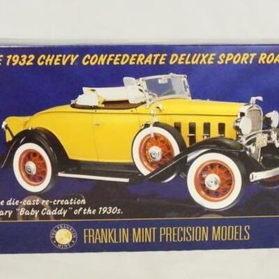 10171932 CHEVY CONFEDERATE DELUXE SPORT ROADSTER 1:24 SCALE FRANKLIN MINT PRECISION MODEL IN ORIGINAL BOX