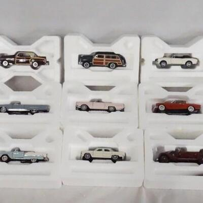 1041LOT OF 13 FRANKLIN MINT 1:43 SCALE DIE CAST MODEL CARS.