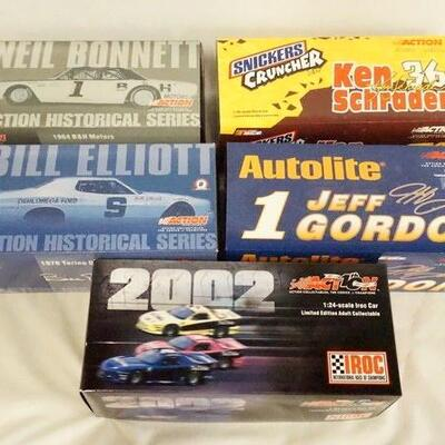 1064LOT OF FIVE ACTION COLLECTABLES LIMITED EDITION NASCAR 1:24 SCALE MODEL CARS. ALL COME W/ ORIGINAL BOXES.