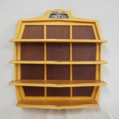 1094CLASSIC CARS OF THE 60S DISPLAY SHELF FOR MODEL CARS.  APP 19 1/2 IN X 17 3/4 IN 4 IN DEEP